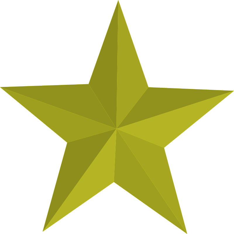 Gold Five-Pointed Star