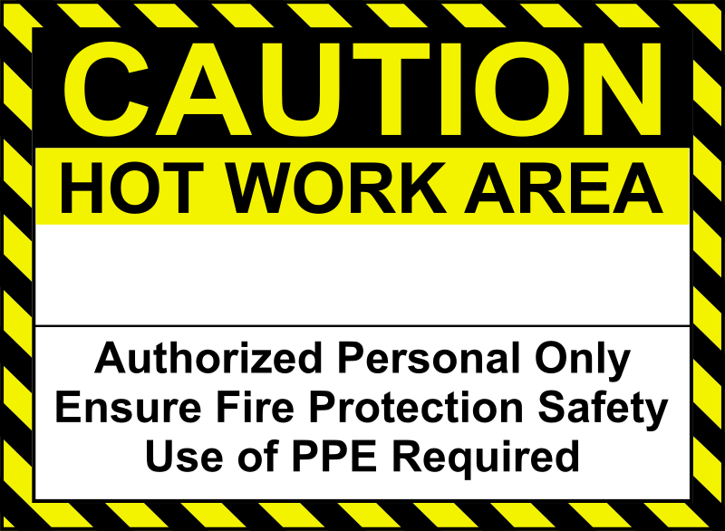 Hot Work Sign