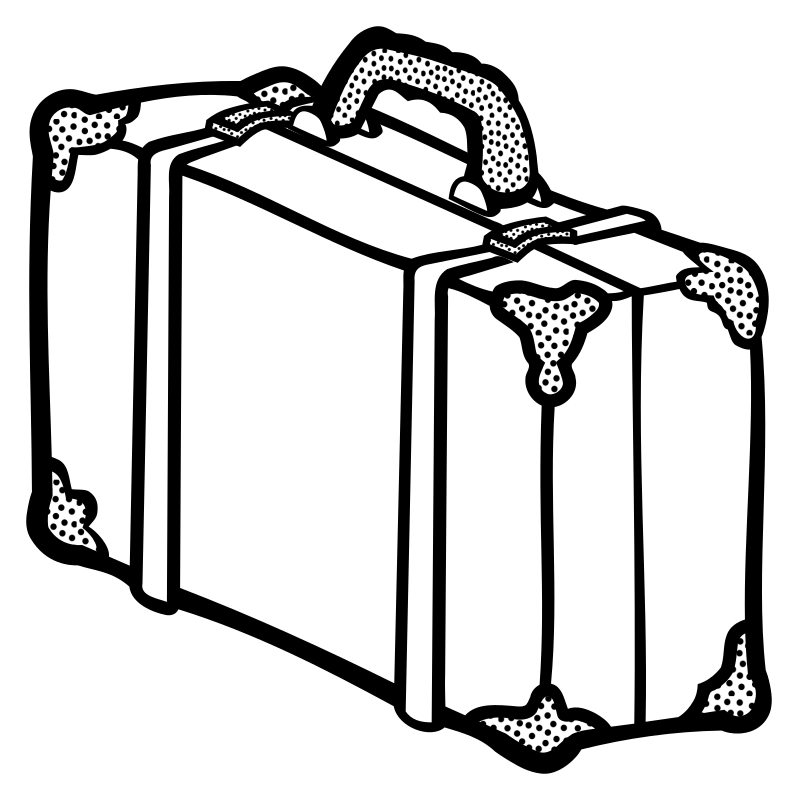 suitcase - lineart