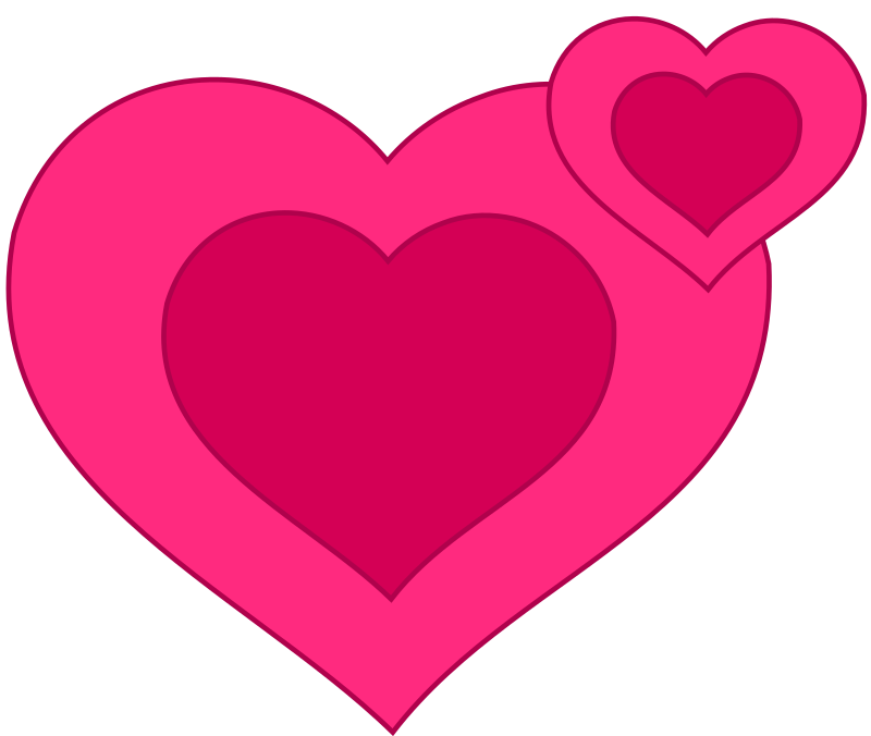 Two Pink Hearts Together