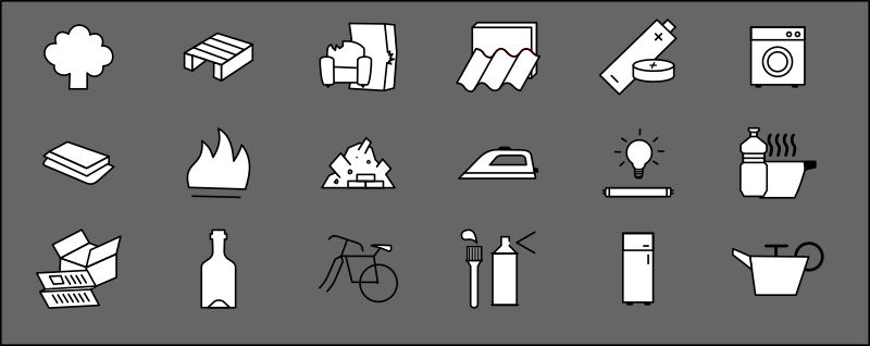 Rubbish types symbols