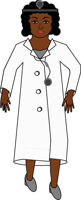 Doctor with head mirror and stethoscope