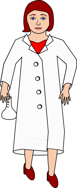 Scientist holding erlenmeyer flask
