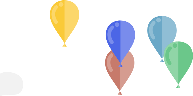 Balloons SMIL animation
