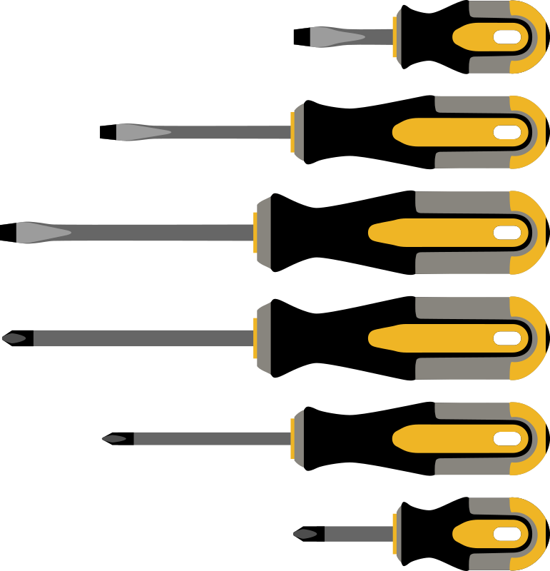 Different screwdrivers