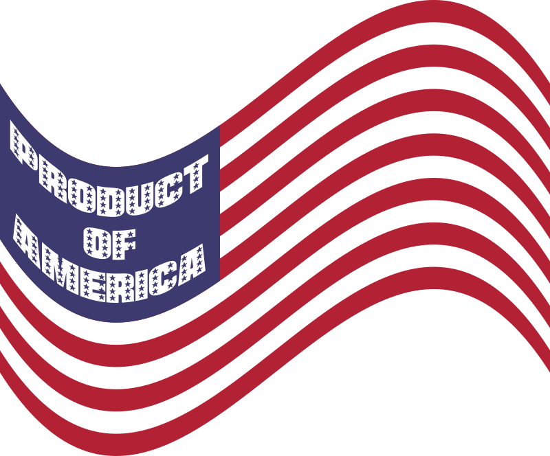 Product Of America Wavy Flag Variation 2
