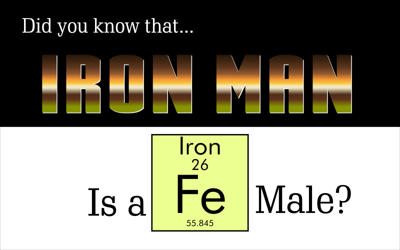 Iron Man Is A Fe-Male