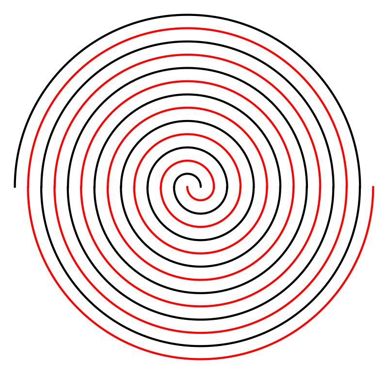 Double Linear Spiral