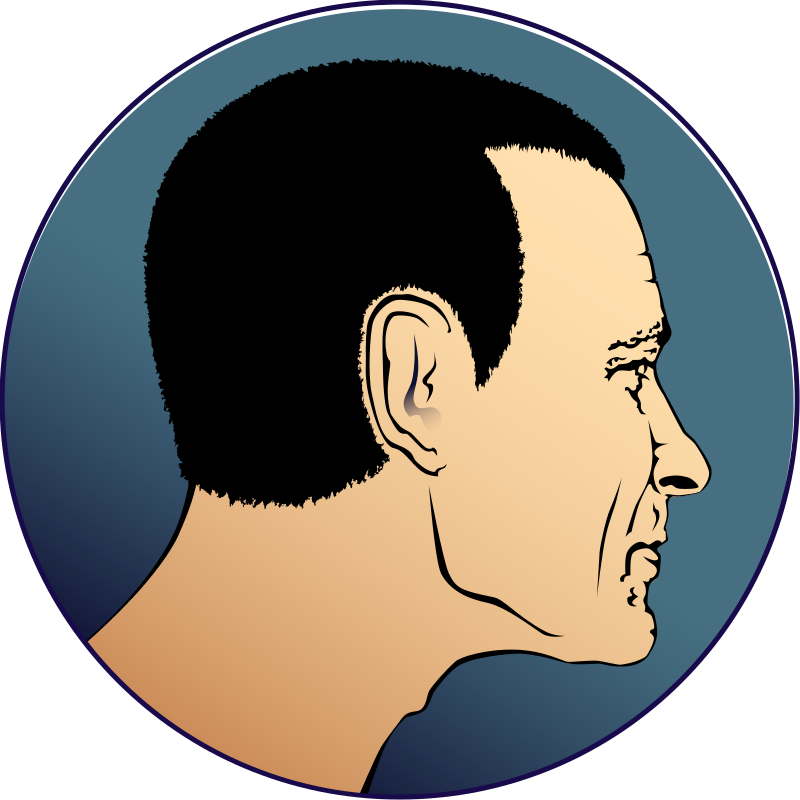 Man's Head Profile