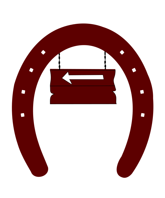 Arrow-sign-horseshoe-back