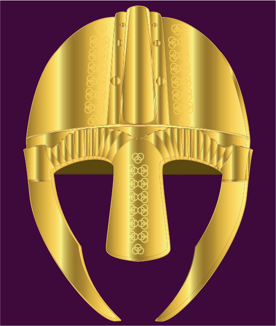 Helmet of gold with Celtic decoration