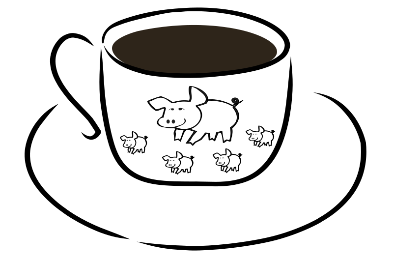 Cup with pig design