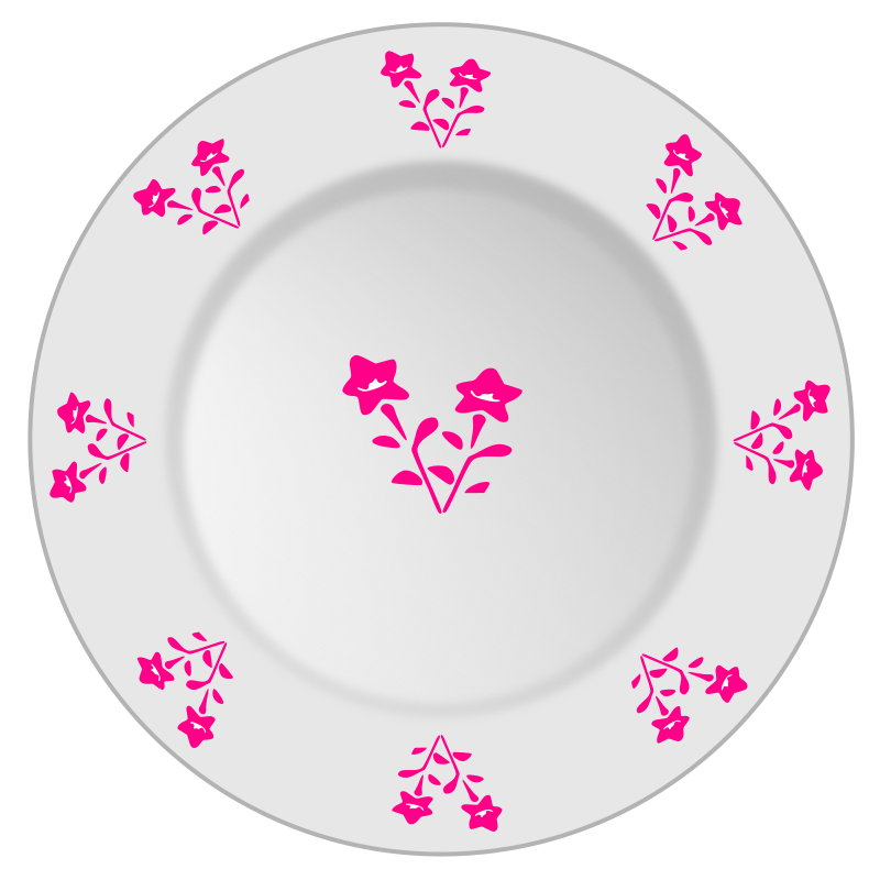 Plate with flower pattern 2