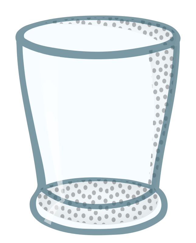 water glass - coloured