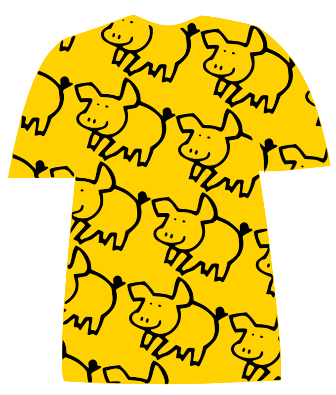 Tshirt-with-pig-pattern