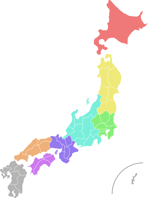 Map of Japan (colour)