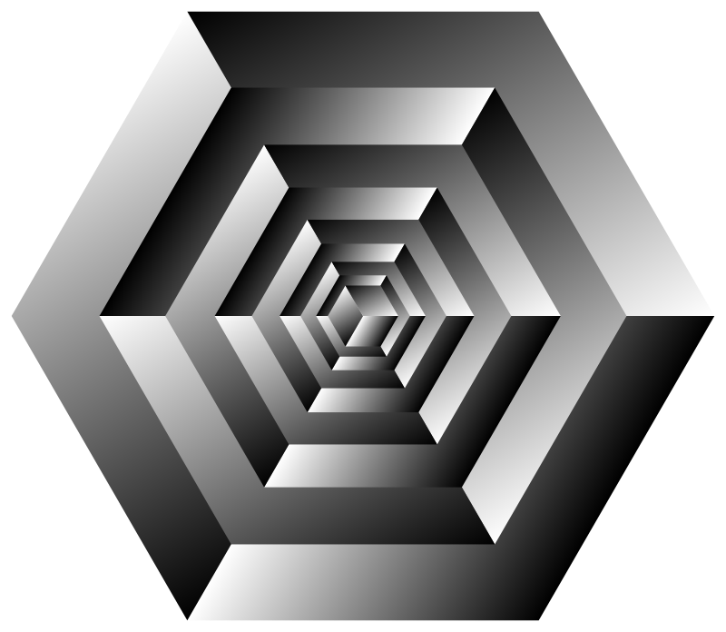 Isometric Cube Illusion Rotated