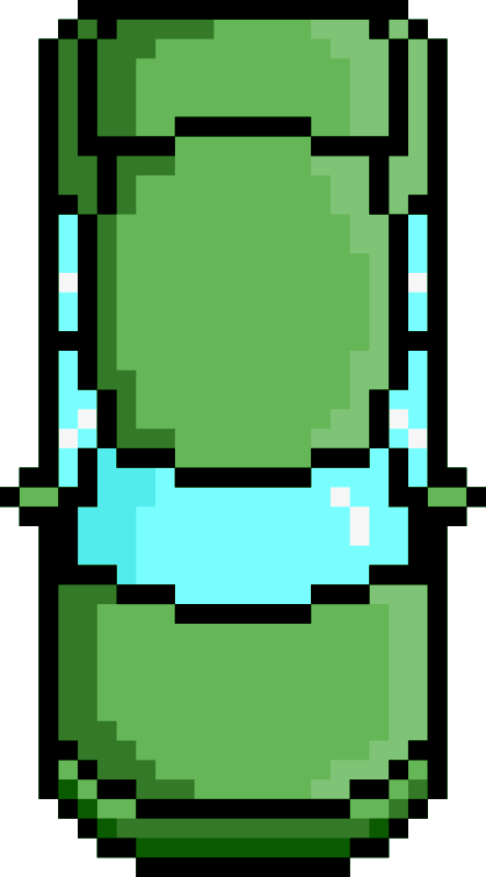 Pixel Car Green Front