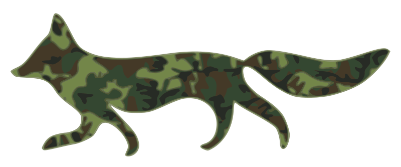 Fox-with-camouflage-pattern