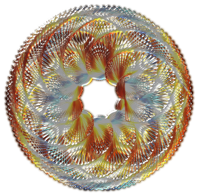 Colorful Spirograph Variation 2
