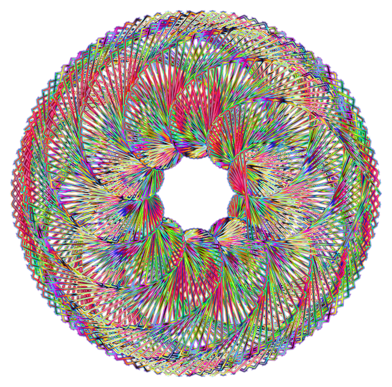 Colorful Spirograph Variation 3