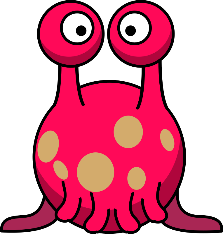 Silly alien in the style of Lemmling