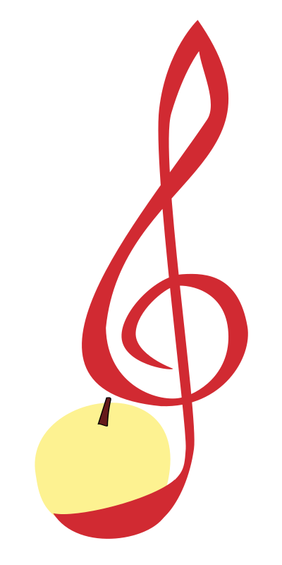 Treble-clef-apple