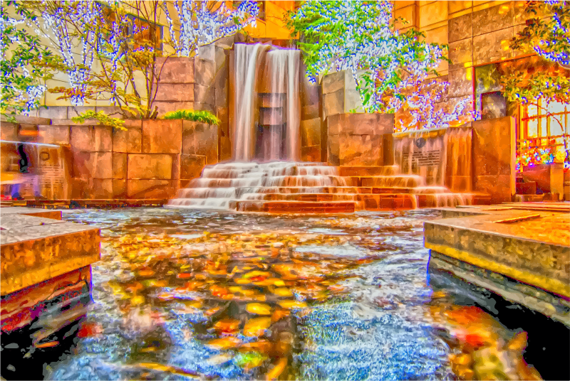 Waterfall Fountain In Charlotte