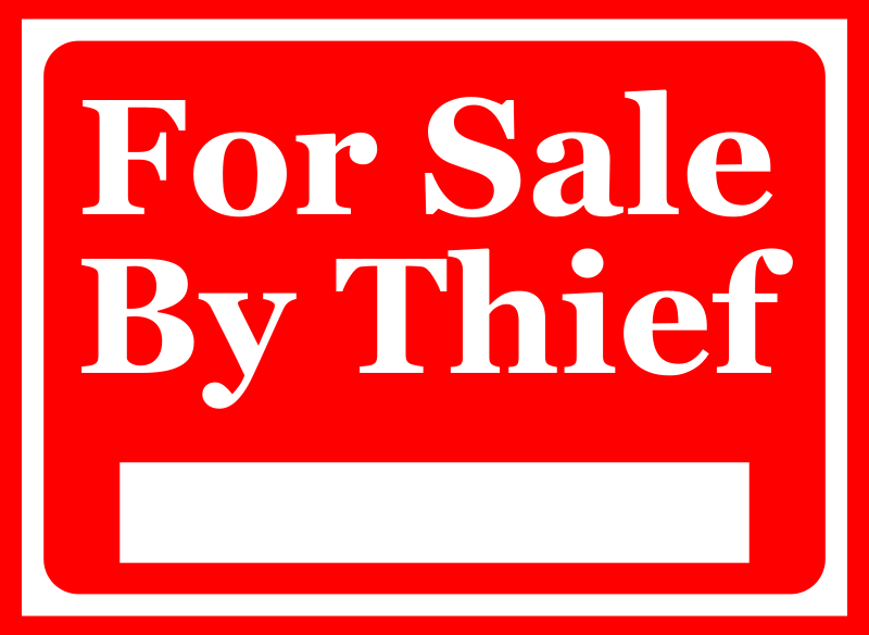 For Sale By Thief