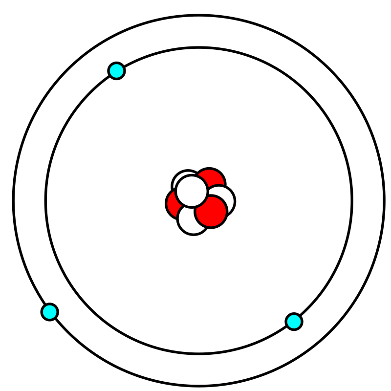 Lithium atom in Bohr model