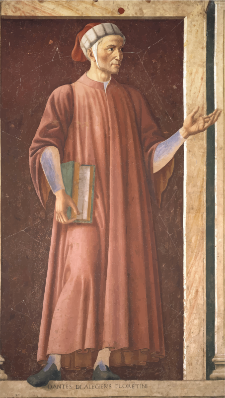 Mural of Dante in the Uffizi Gallery, by Andrea del Castagno