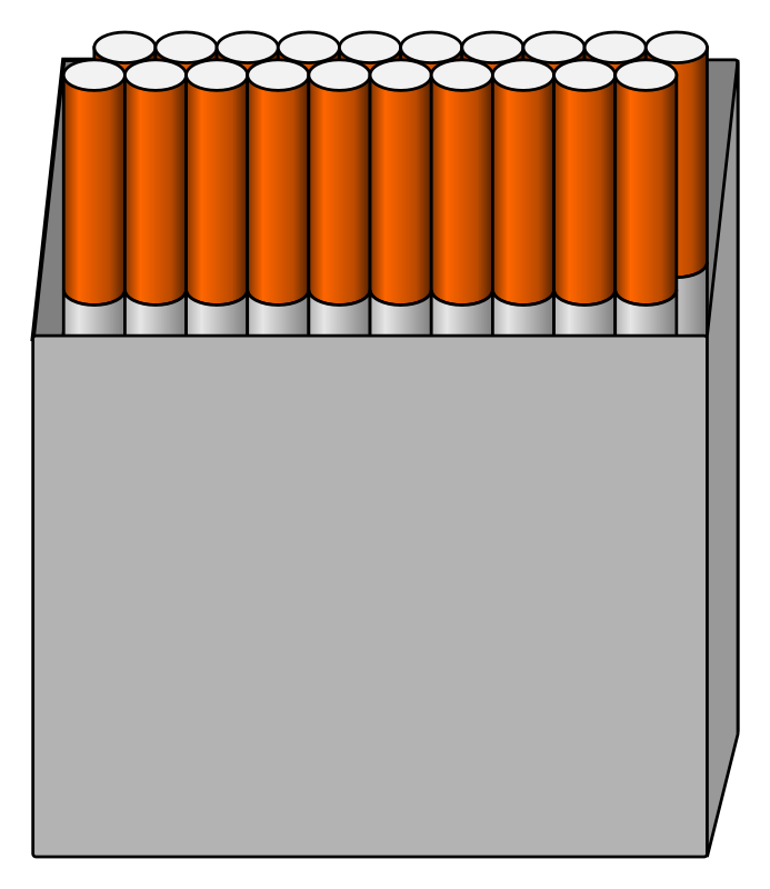 Box of 20 cigarettes