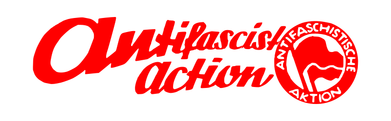 antifascist action lettering