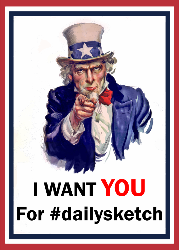 Uncle Sam Wants You For Dailysketch (Cleaned Up)
