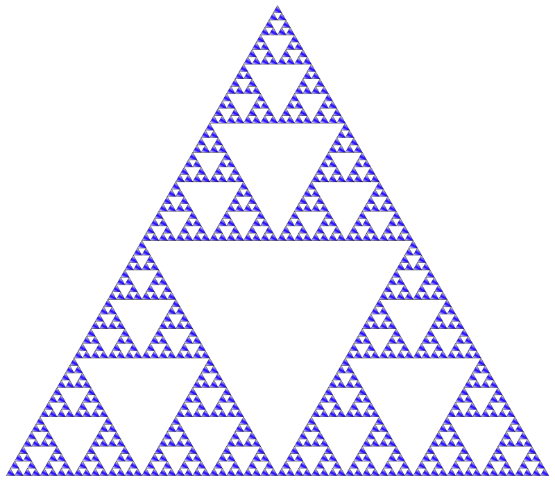Sierpinski Triangle Colored