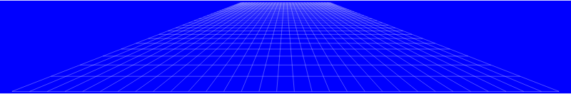 Perspective Grid Flat Blue
