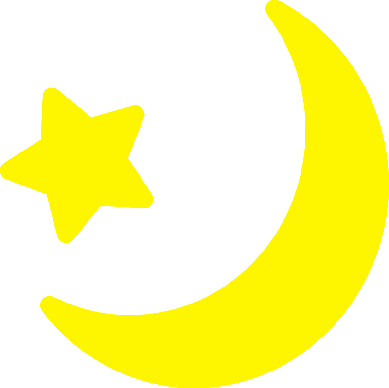 Yellow Moon And Star icon