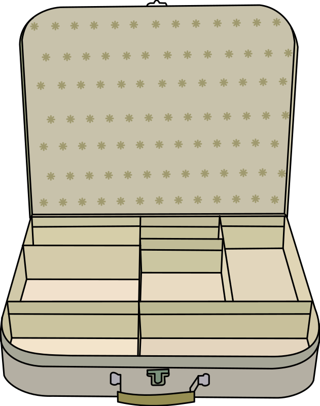 suitcase with compartment