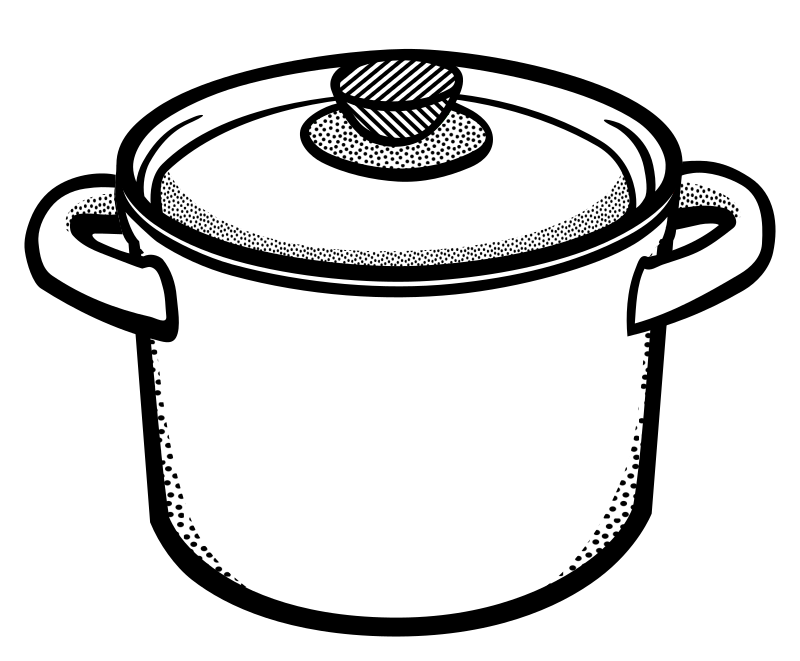 cooking pot - lineart