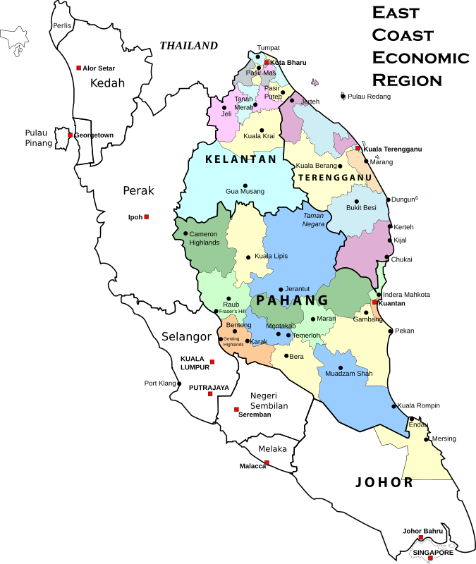 East Coast Economic Region, Malaysia