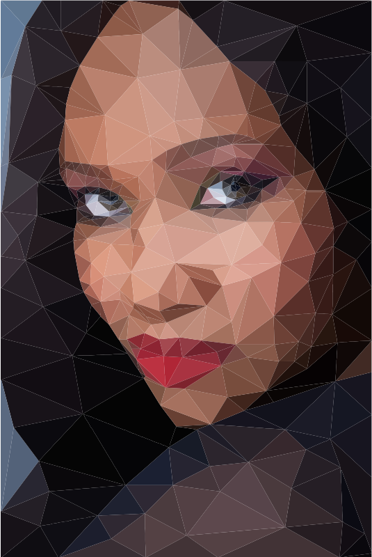 Low Poly Female Portrait
