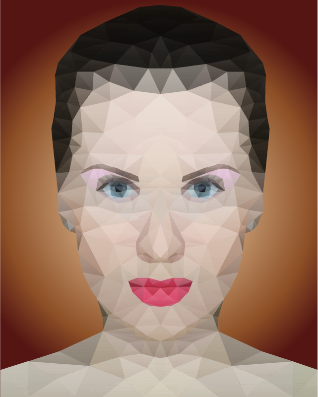 Low Poly Female Portrait 2
