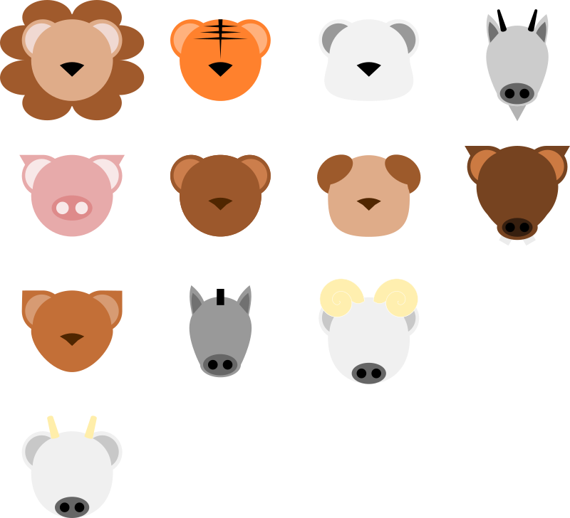 Minimalist Animal Face