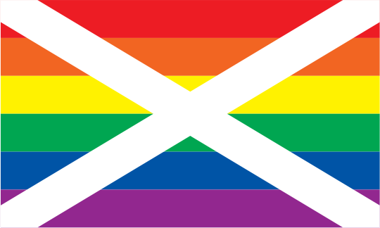 Static Rainbow Saltire