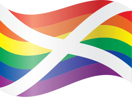 Waving Rainbow Saltire