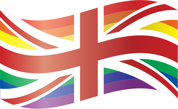 Waving Rainbow Union Flag