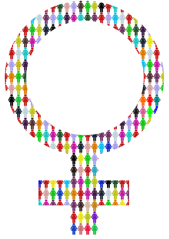 Female Symbol - Multicolour