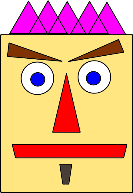 Shape Face Man Vectorized