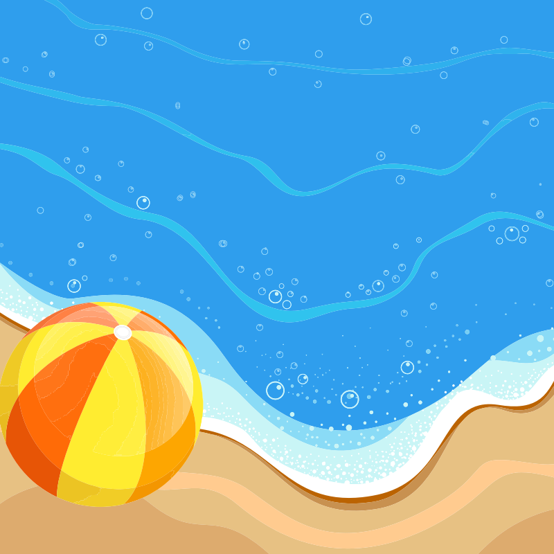 Beach ball At The Beach - Daily Sketch 31