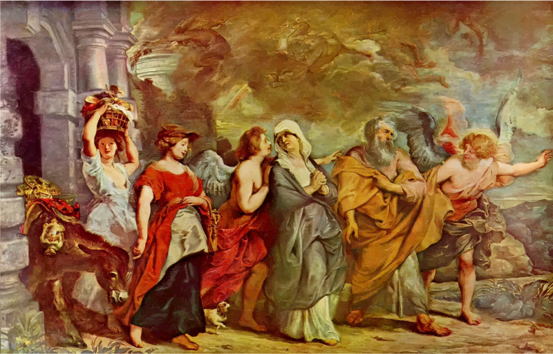 The Flight Of Lot By Peter Paul Rubens